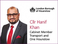 Councillor Hanif Khan, Cabinet member for Hounslow Council