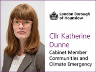 Image of Cllr Katherine Dunne, Cabinet Member for Communities and Climate Emergency.