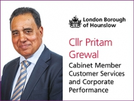 Cabinet  Member, Councillor Pritam Grewal who is a Member for Customer Services and Corporate Performance