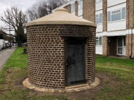 Image of the restored lock up in Cranford, Hounslow.