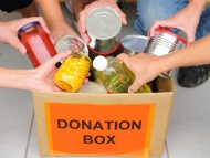 Image of a food bank donation box