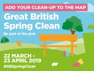 Image of the Great British Spring Clean 2019 campaign branding.