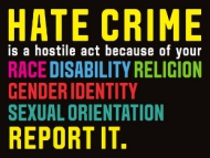 Image of Hounslow's Hate Crime Awareness poster