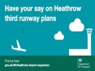 Poster image of the Heathrow  Expansion consultation