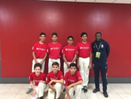 Team Hounslow's cricket team for the London Youth Games.