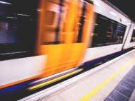 Image of a London Overground train carriage.