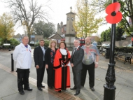 Working together to remember. Image of Mayor of Hounslow Sue Sampson and community partners.