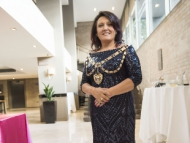 Image of new Mayor of Hounslow, Sue Sampson at her inaugural ball.