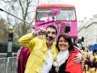 Image of Cllr. Sue Sampson and Ray Coleman at the New Year's Day Parade