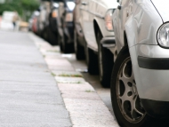 Image of parallel parked cars