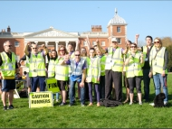 Image of volunteers helping at the Osterley Junior Parkrun