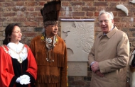 Image of The Duke is joined by representatives of the Richmond Virginia Indian Tribes and Councillor Ajmer Grewal, Mayor of Hounslow