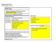 Image of a polling card