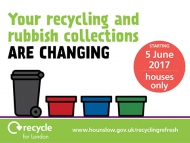 Image of recycling refresh poster.