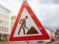 Image of a road works street sign.