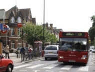 Image of Hounslow Central tube station and H20 bus.