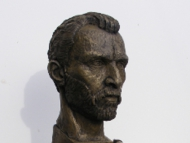 Anthony Padgett's bust of Vincent Van Gogh.
