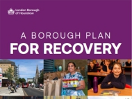 Front cover for the Council's, Borough Recovery Plan