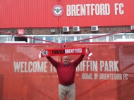 Leader of the Council, Steve Curran at Brentford Football Club