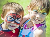 Image of children with facepaint.