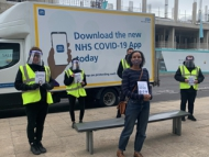 Image of Councillor Candice Atterton, Cabinet Member for Adults, Social Care and Health at Hounslow Council, went down to meet the NHS street team in action.