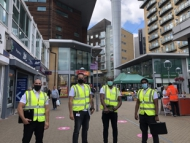 Safety officers on Feltham high street