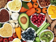 Image of fruits and nuts - healthy eating