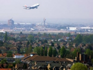 plane taking off from Heathrow airport