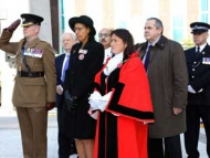 Maria Pedro, Deputy Lieutenant attending the Remembrance Service in Hounslow Town Centre last year at the Holy Trinity Church