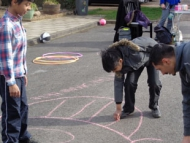 Image of children taking part in the Playstreets campaign