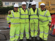 Image of Hounslow Highways staff on site.