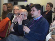 Image of Hounslow council social workers at  a conference discussing social work