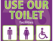 Use our toilets