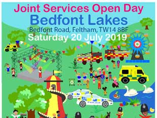 Joint Services Open Day to be held at Bedfont Lakes this Saturday 20 July