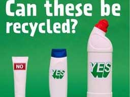 Image of the plastic bottles that can be recycled