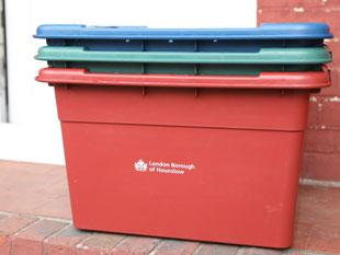 New recycling boxes