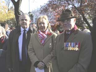 Cllr Steve Curran, Leader of the Council, Ruth Cadbury MP and Lieutenant Colonel John Robert Stroud-Turp, Royal Regiment of Artillery.