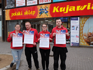 Pictured staff from the polish shop in Hounslow