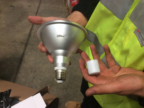 Image of the electrical goods seized by Hounslow Council's Trading Standards team.